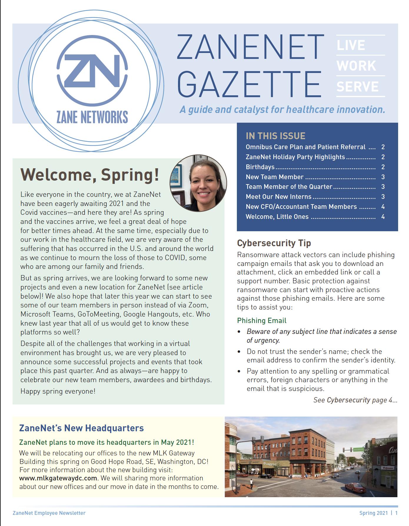 Zane Networks Spring 2021